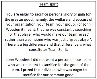 Wooden team spirit